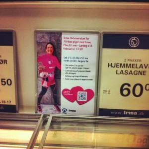 Irma Halvmaraton på tilbud sammen med lasagnen